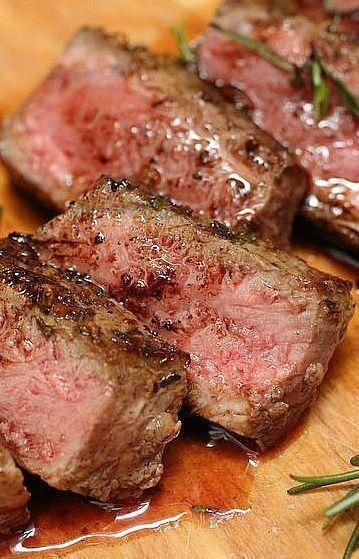 Rosemary Garlic Butter Steaks. | Recipes | Pinterest