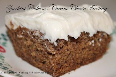 Zucchini Cake with Cream Cheese Frosting | Cakes 2 | Pinterest