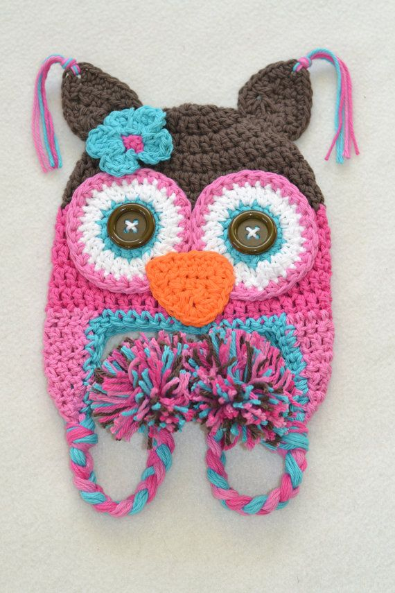 Free Crochet Owl Hat Pattern For Baby : Gallery For > Crochet Owl Hat