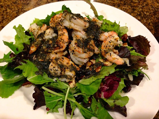 ... delicious seasonal shrimp or chicken salad with dill weed vinaigrette