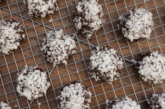 Coconut Ganache Bourbon Balls | Recipe