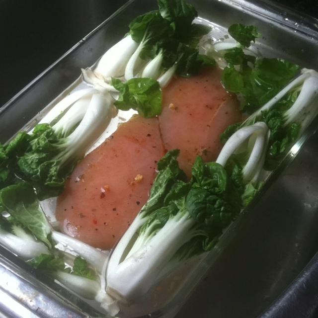Bok choy & chicken | Yummy Foods | Pinterest