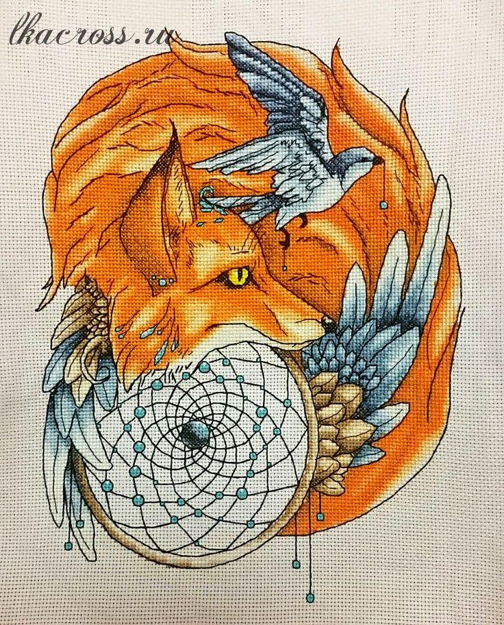 Схема для вышивки крестом лиса 71