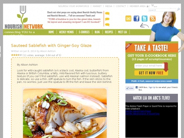 Sauteed Sablefish with Ginger-Soy Glaze | Recipe