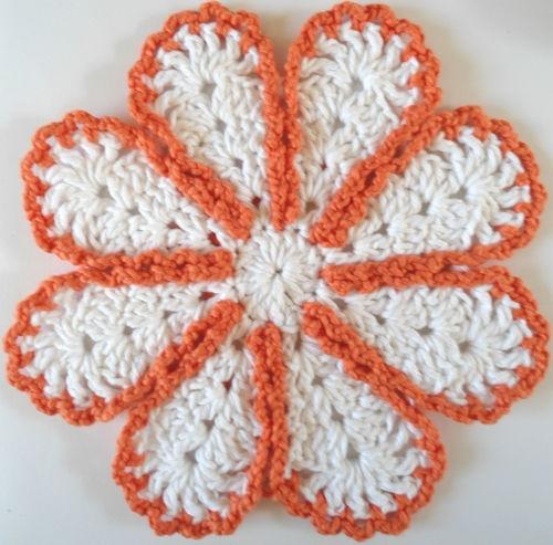 Lazy Daisy Dishcloth Crochet Pinterest