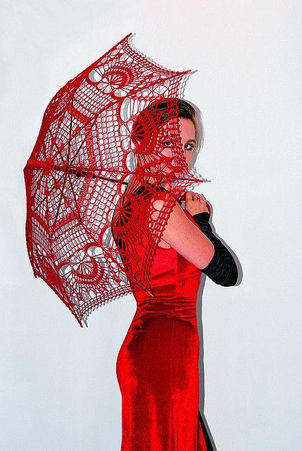 Crochet Umbrella : Crochet umbrella by lermolaeva CROCHET Pinterest