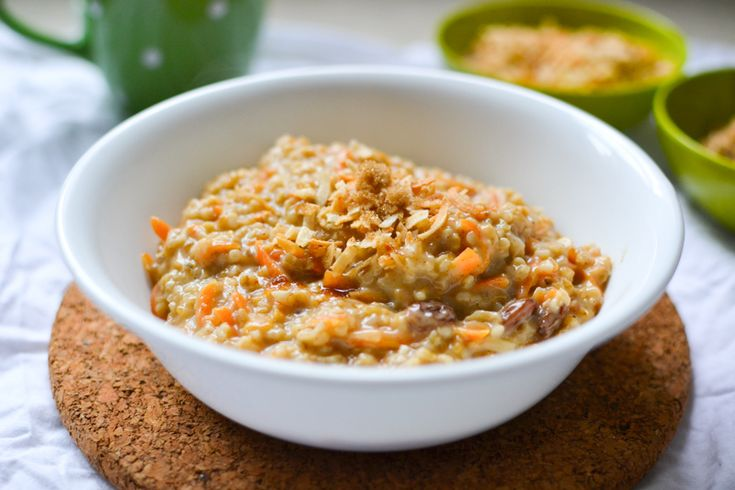 Carrot cake oatmeal on Pinterest