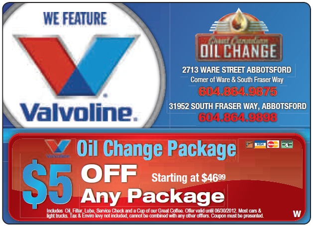 oil change coupons temecula