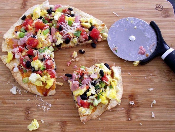 Breakfast Burrito Pizza