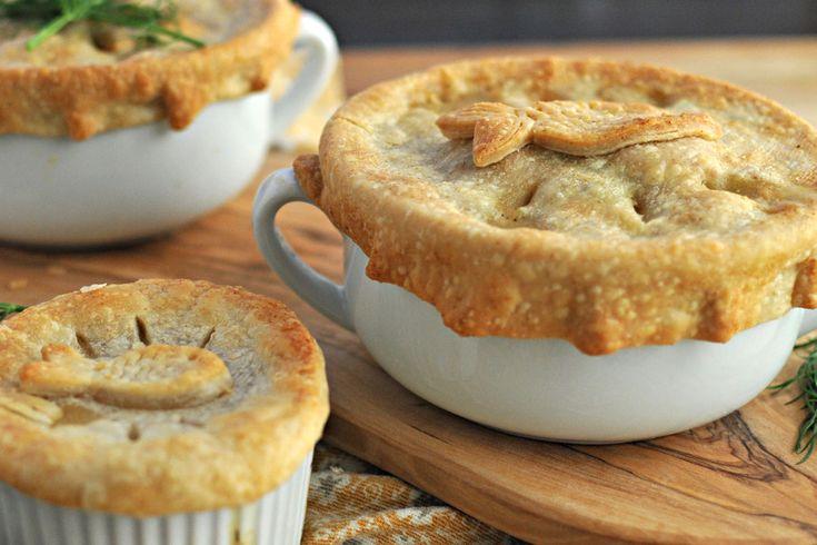 Dilled Salmon & White Bean Pot Pies | Entrees | Pinterest