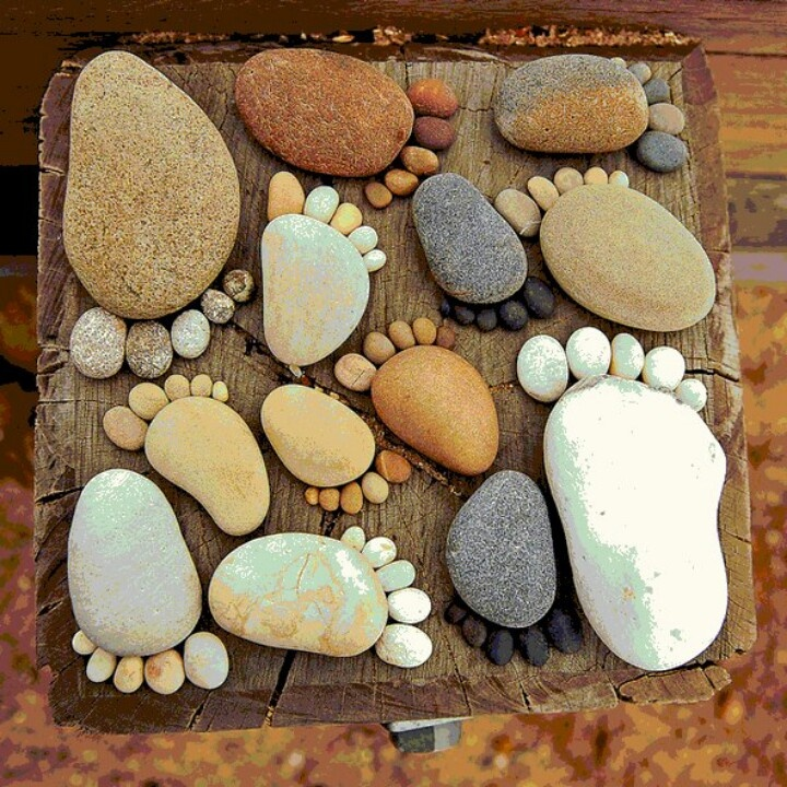 Pebble feet for stepping stones pebbles pinterest - Stepping stones and pebbles ...
