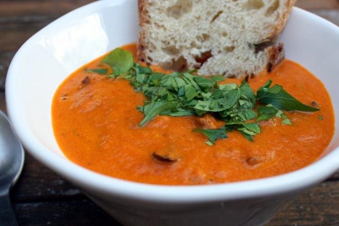 Roasted Tomato & Eggplant Soup | Eggplant | Pinterest