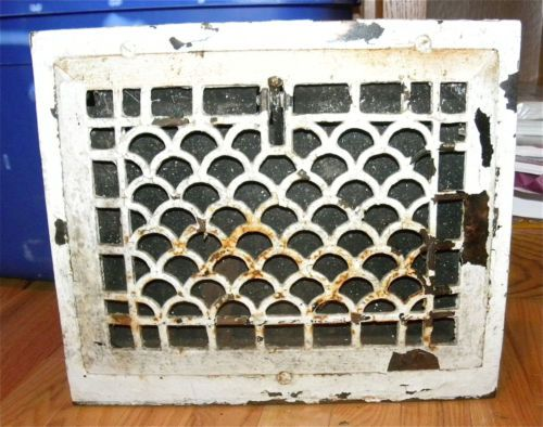 vintage upright wall vent register cover heating grate