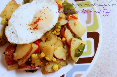 Sweet Corn Hash and Eggs | Breakfast goods | Pinterest
