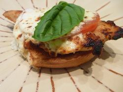 Open faced chicken caprese sandwich | Chicken | Pinterest