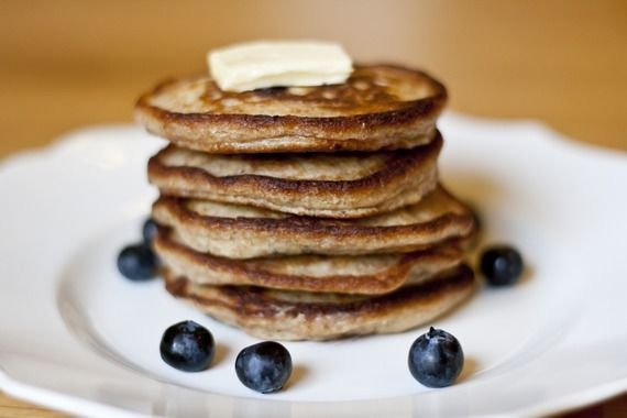 Blueberry-Lemon Whole Wheat Pancakes - My Little Gourmet