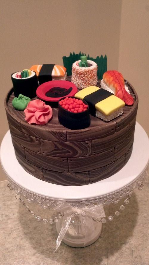 sushi cake | cakes | Pinterest