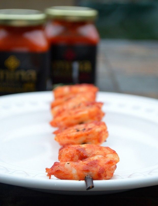 Grilled Harissa Shrimp & Green Beans - Musings of a Housewife ...
