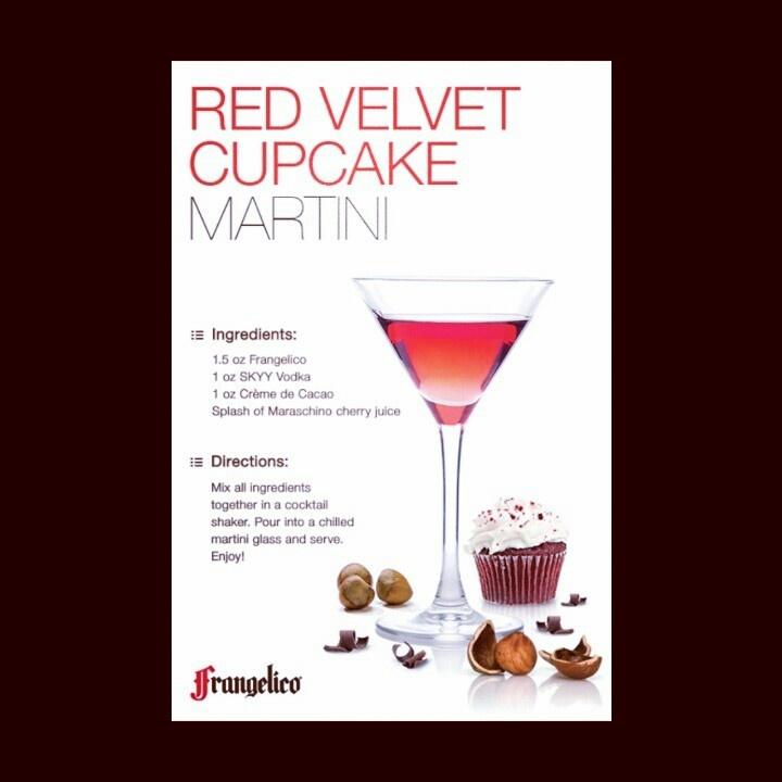 Frangelico: Red Velvet Cupcake Martini | E--Booze | Pinterest