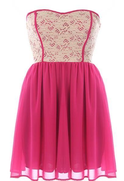Raspberry Garnish Dress >> This is darling!