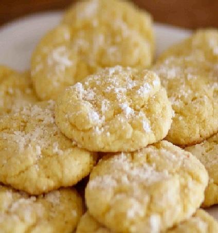 Lemon Gooey Butter Cookies | Cookies | Pinterest