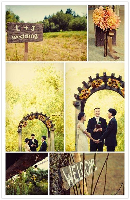 Cute Backyard Wedding Ideas : Cute ideas for a backyard ceremony  Wedding Ideas  Pinterest