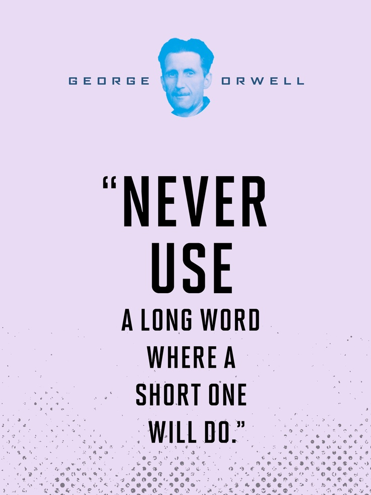 george orwell essay good writing