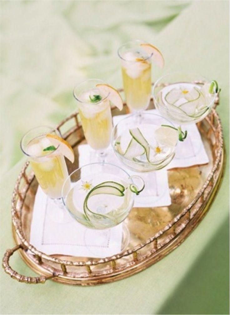 Mint Fruit Cocktail | Mint & Gold Wedding | Pinterest