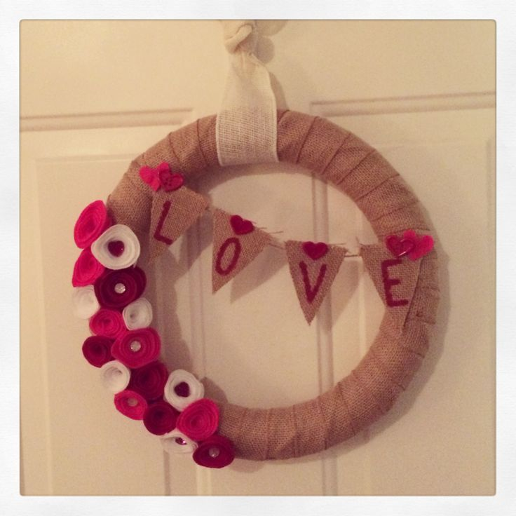 wreath for valentine's day