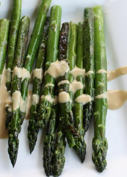 asparagus with dijon vinaigrette (I didn't have vinegar so I used ...