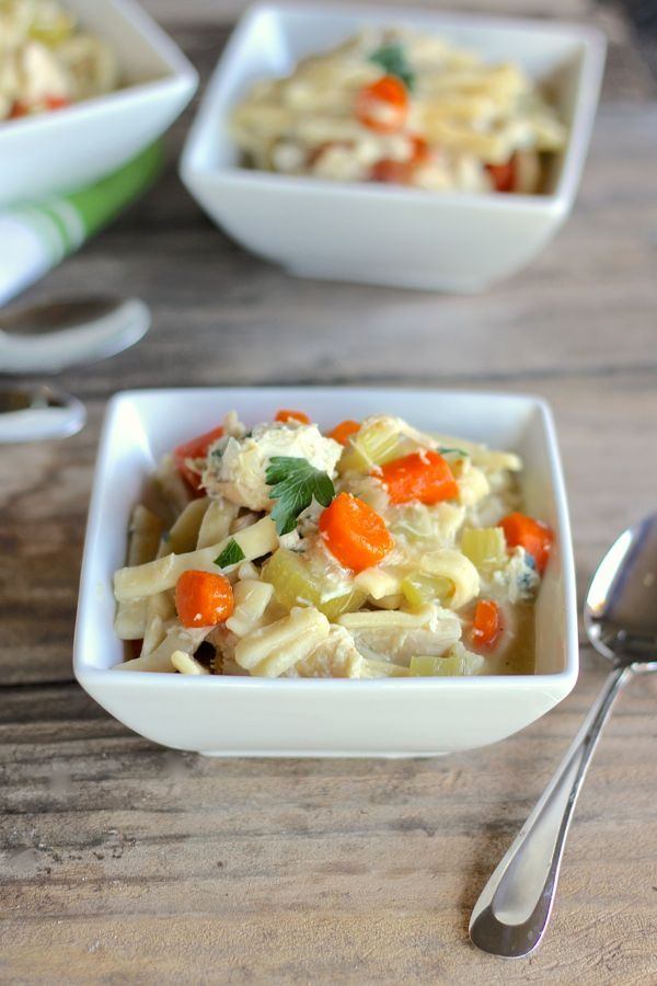 Easy Chicken and Noodles - this cozy one-dish meal with chicken ...