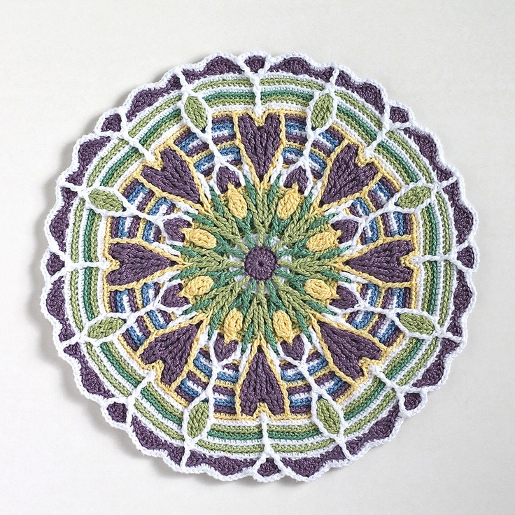 Crochet Mandala : Crochet Mandala Crochet -- Potholders/Placemats/Trivets/Coasters ...
