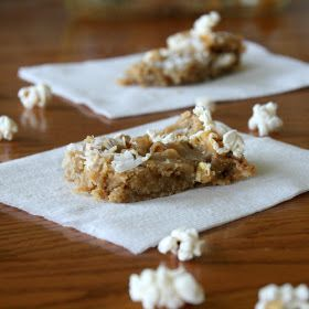 Browned Butter Coconut Caramel Popcorn Blondies