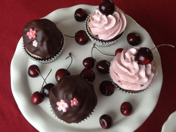 cherry cola chocolate ganache cupcakes