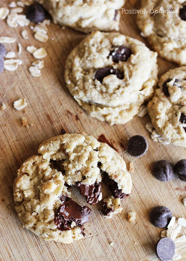 Cowboy Cookies - Chewy cookies with oatmeal, chocolate chips and ...