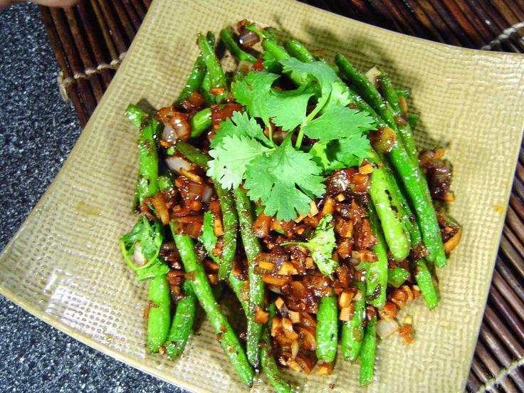 Szechuan Green Beans   Dim Sum Recipes   Pinterest