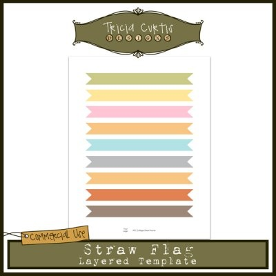 Straw Flag ATC Collage Sheet Template | Commercial Use Clipart To Buy ...