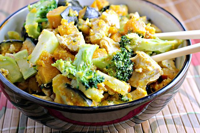 ... With Others | Maple-Miso Glazed Tofu with Broccoli and Winter Squash