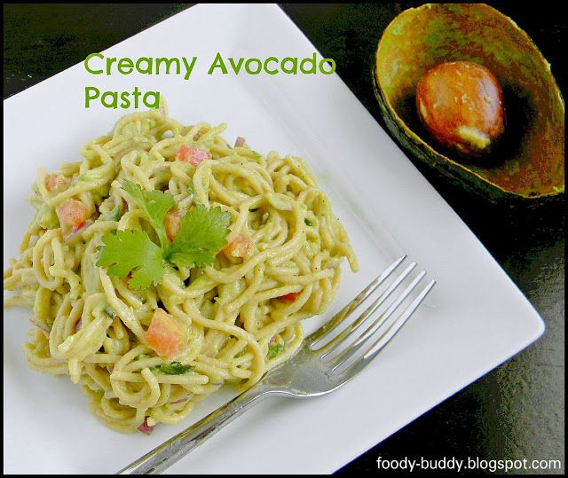 Creamy Avocado Pasta | Veggielicious!! | Pinterest