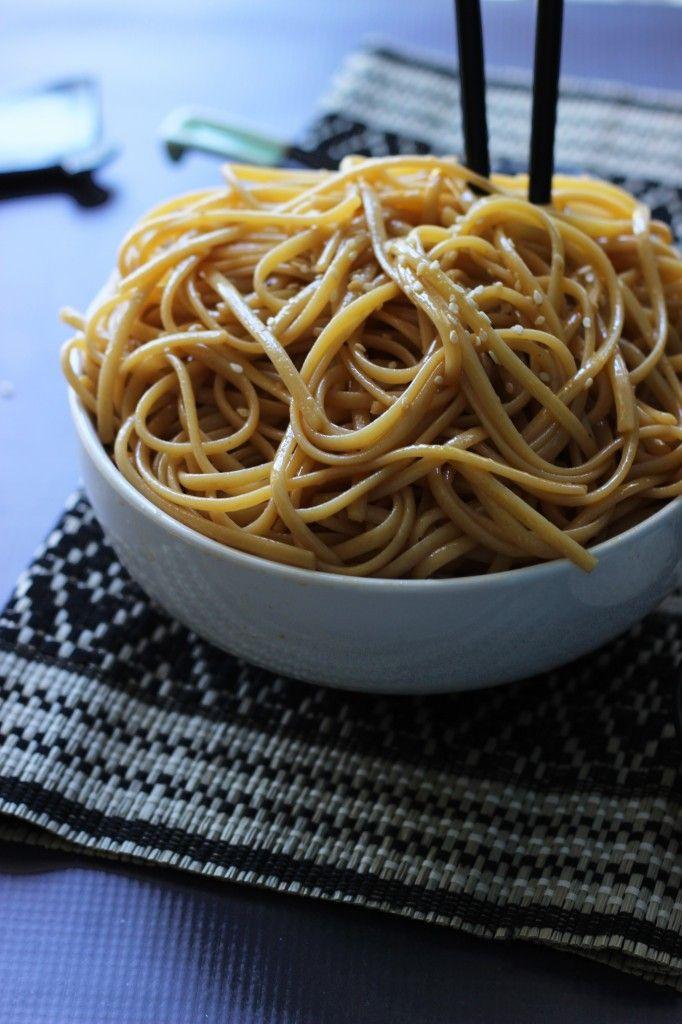 ... Noodles sauteed in butter, garlic, soy sauce, teriyaki sauce, sugar an