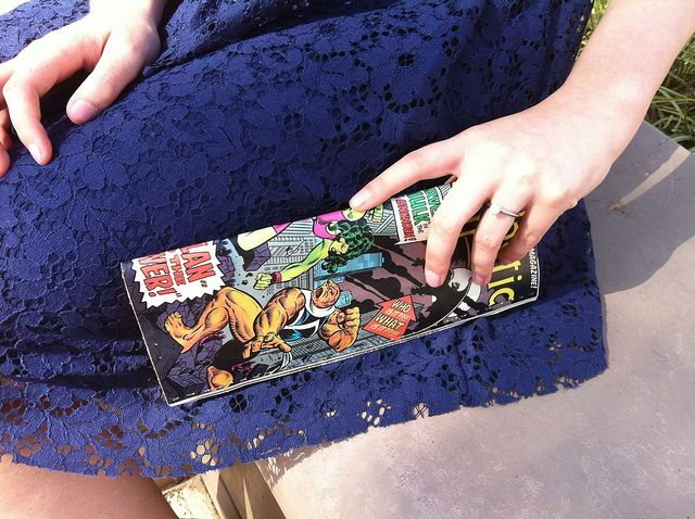 Comic book clutch by jessicacharlton, via Flickr