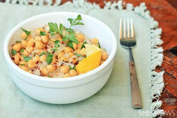 Greek garbanzo bean salad | healthy recipes | Pinterest