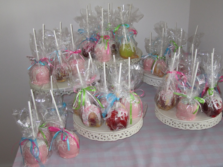 apple of mommy 39 s eye baby shower party favors candy apples