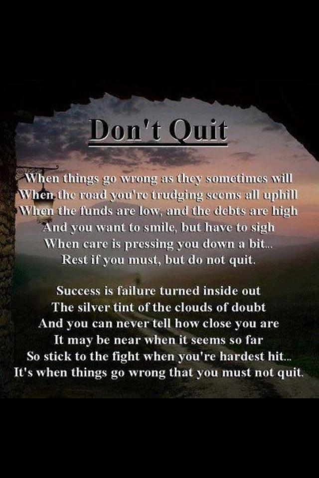 Never Quit | Positive Thinking | Pinterest