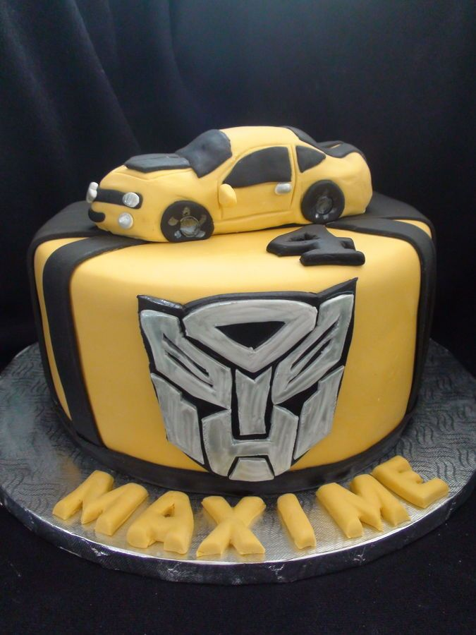 transformers cakes bumblebee