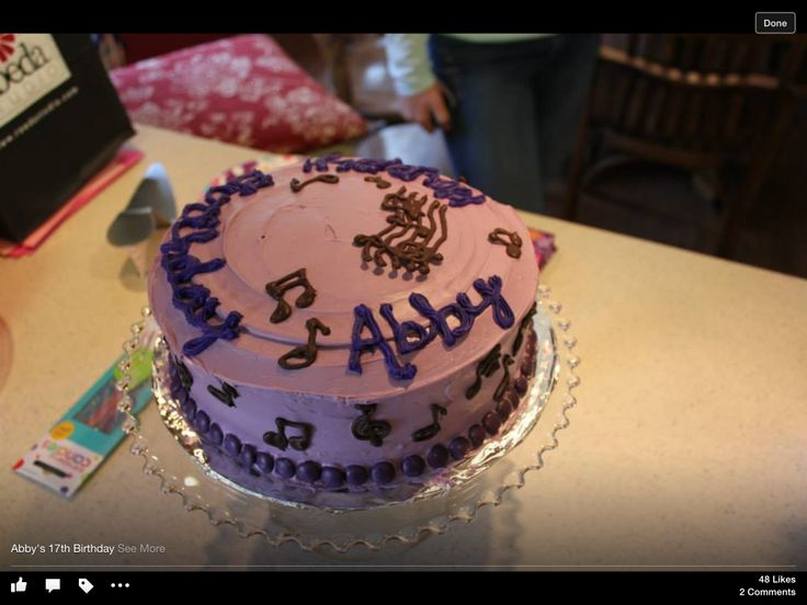 Cake with decor made from chocolate melts melted in microwave then ...