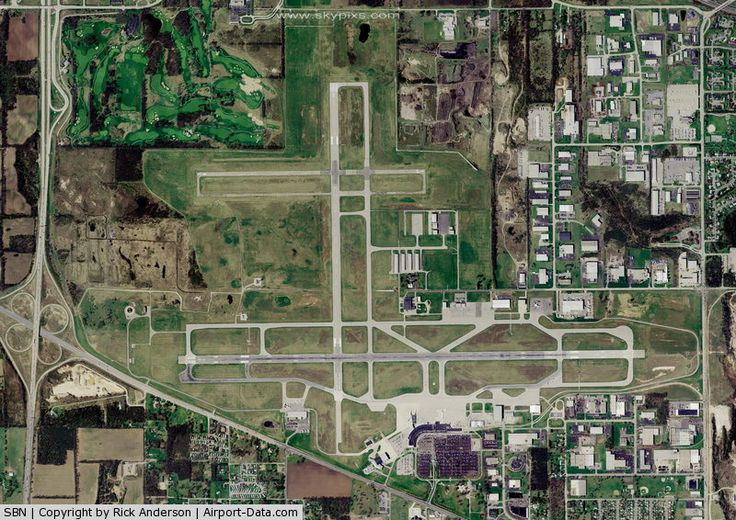 South Bend Regional Airport near Notre Dame University, Indiana