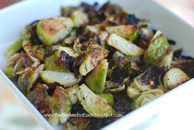 Roasted Brussel Sprouts - Cut in quarters; drizzle with olive oil ...