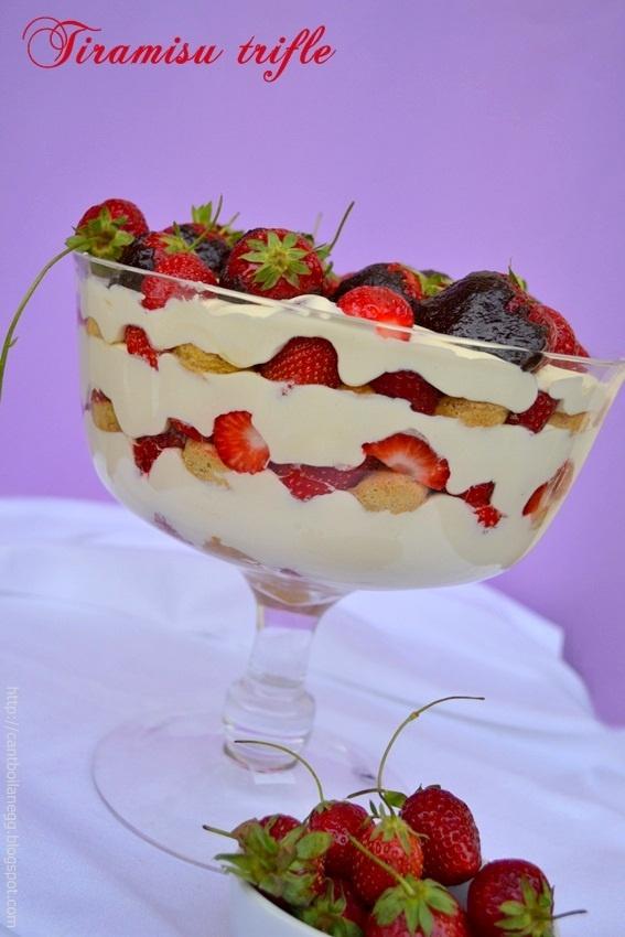 Tiramisu trifle   Family food   Pinterest