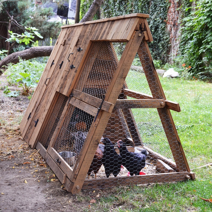 Chicken coop for A frame chicken house